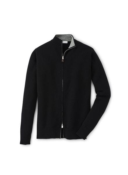 Peter Millar Peter Millar Cashmere Full Zip Black Cardigan Sweater