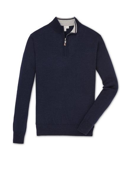 Peter Millar Peter Millar Crown Soft 1/4 Zip Navy Sweater