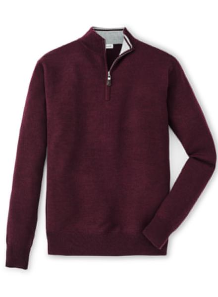 Peter Millar Peter Millar Crown Soft 1/4 Zip Sweater in Acai