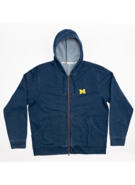 Peter Millar Peter Millar Mountainside Michigan Indigo Full Zip Hoodie