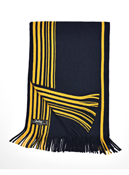 Chelsey Wool Maize & Blue Stripe scarf