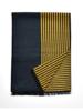 Chelsey Silk Thin Maize & Bulk Blue stripe scarf