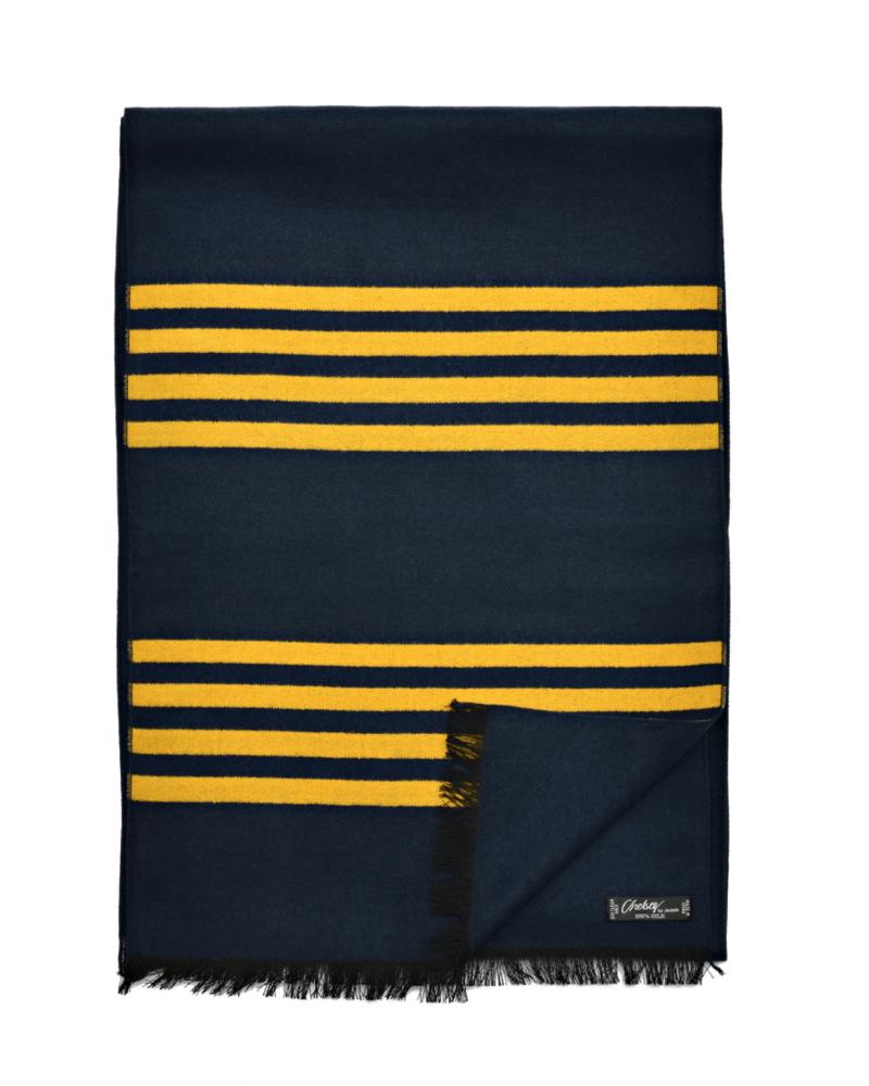 Chelsey Silk 4 maize stripe scarf