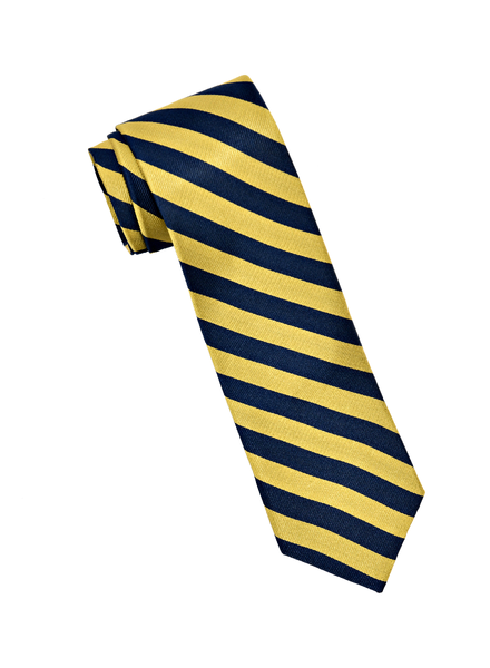 Amanda Christensen Maize & Blue Repp Stripe Tie