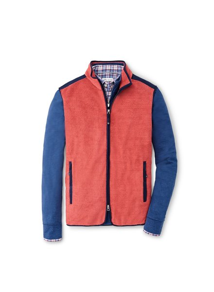 Peter Milar Peter Millar Fleece Vest Hyannis Red