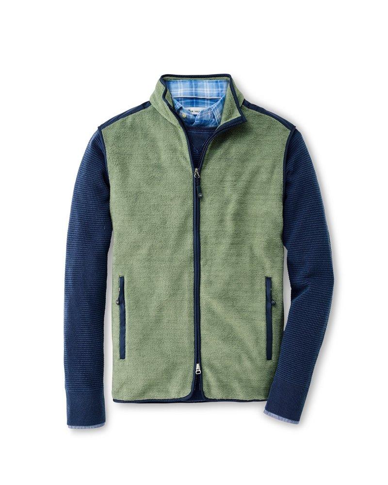 Peter Millar Peter Millar Fleece Vest Moss Crown Collection