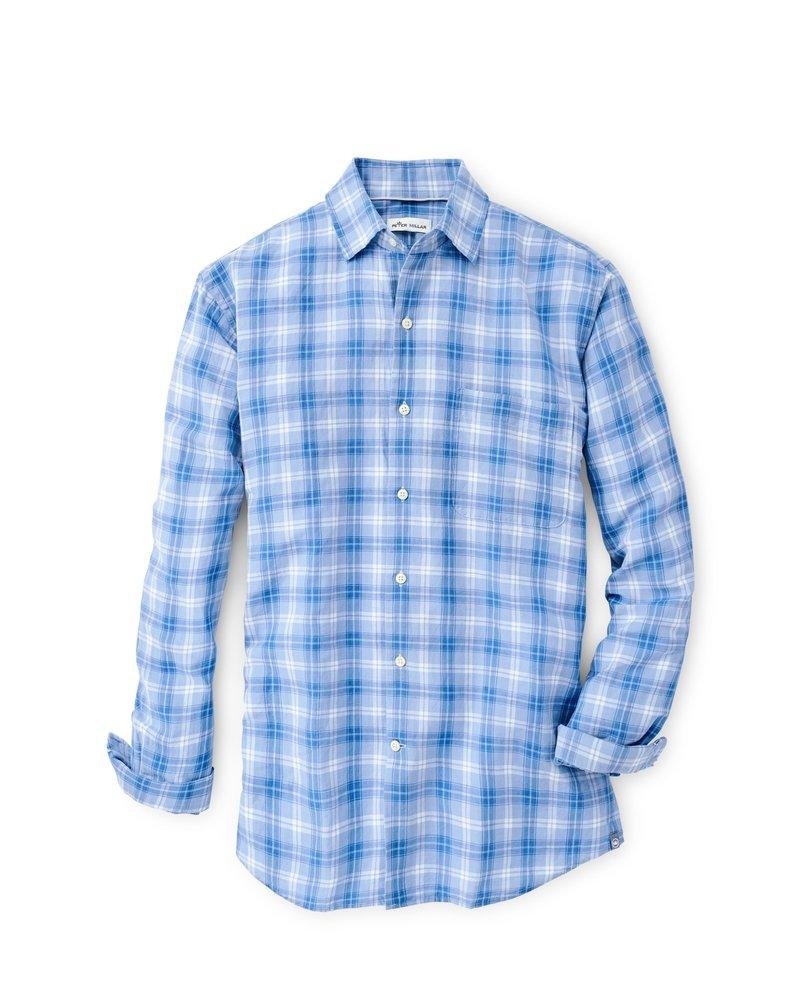 Peter Millar Peter Millar Whitehaven Linen-Blend Sport Shirt Crown Collection