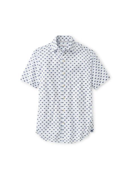 Peter Millar Peter Millar Blue Crab Cotton-Blend Sport Shirt