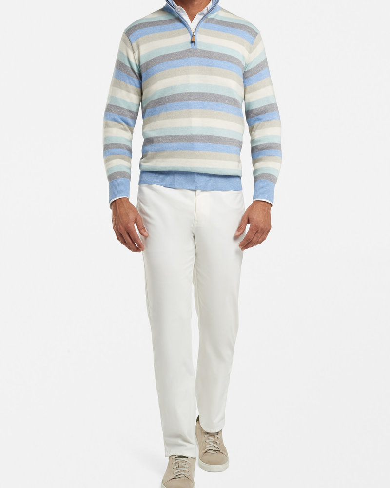Peter Millar Peter Millar Williams Wool-Linen Quarter-Zip Sweater Crown Collection