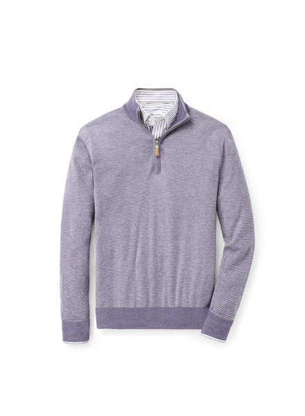 Peter Millar Peter Millar Needle-Stripe Quarter-Zip Sweater