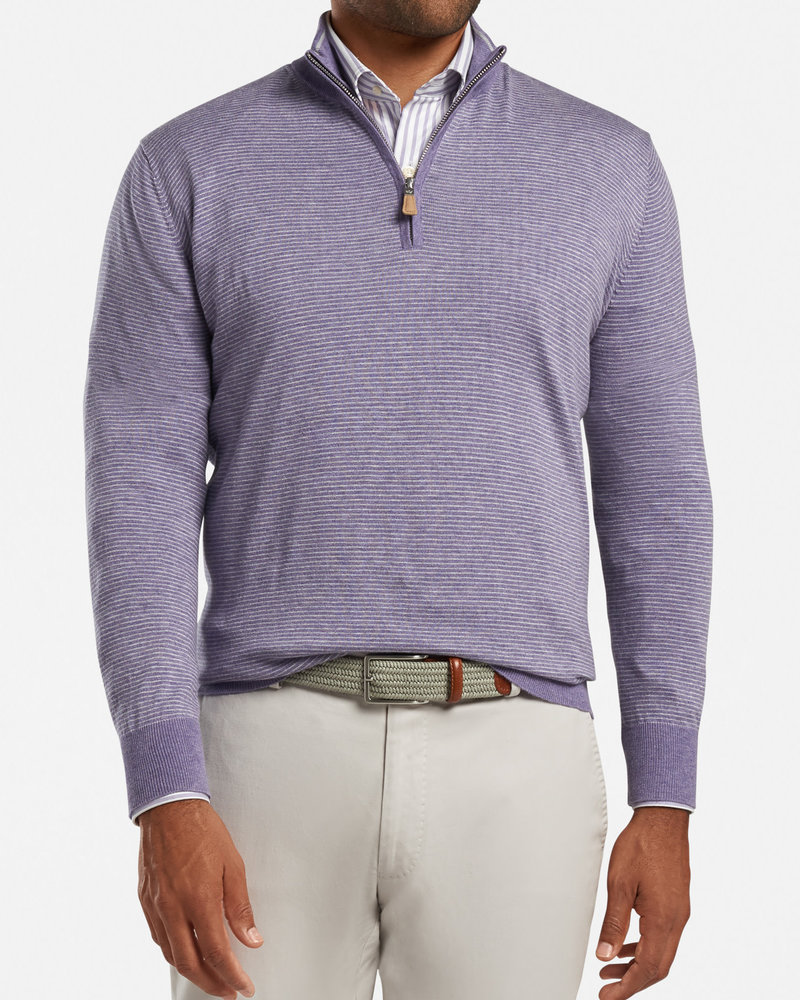 Peter Millar Peter Millar Needle-Stripe Quarter-Zip Sweater Crown Collection