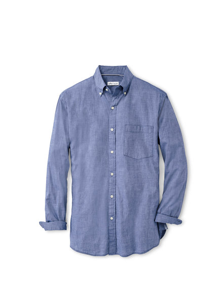 Peter Millar Peter Millar Garment Dyed Cotton-Blend Sport Shirt