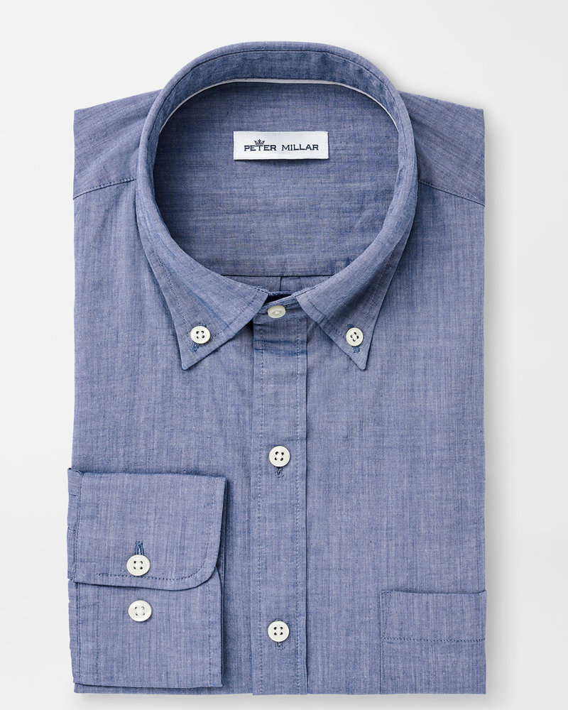 Peter Millar Peter Millar Garment Dyed Cotton-Blend Sport Shirt Crown Collection