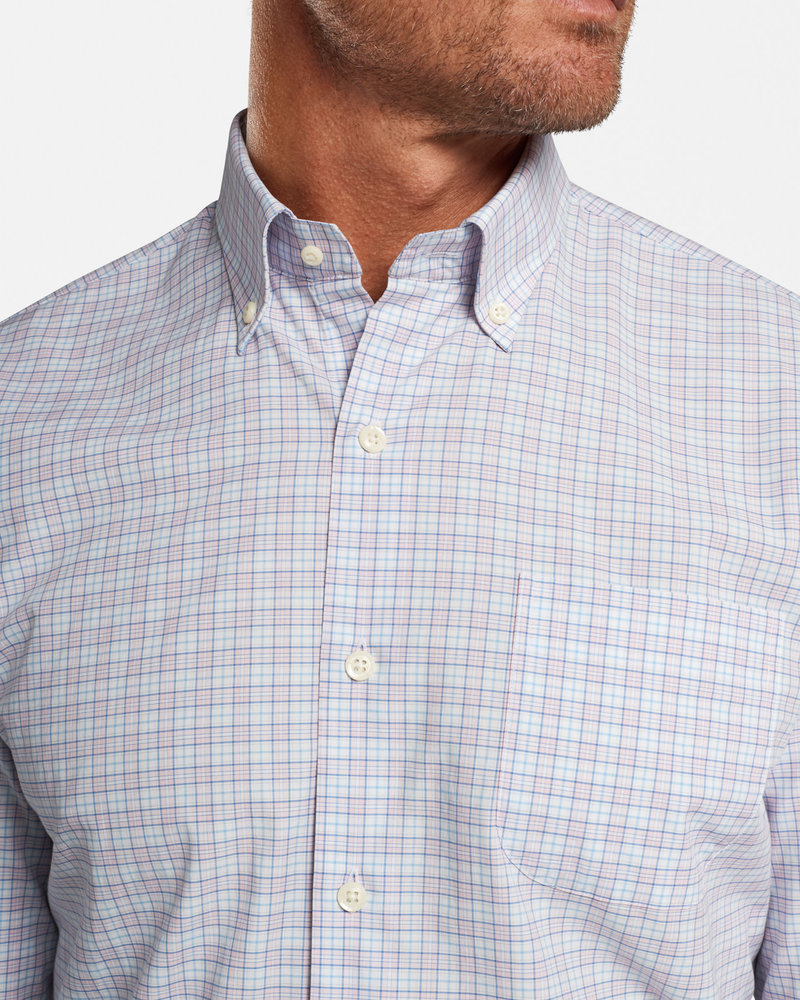 Peter Millar Peter Millar Clarence Cotton-Blend Sport Shirt Crown Collection