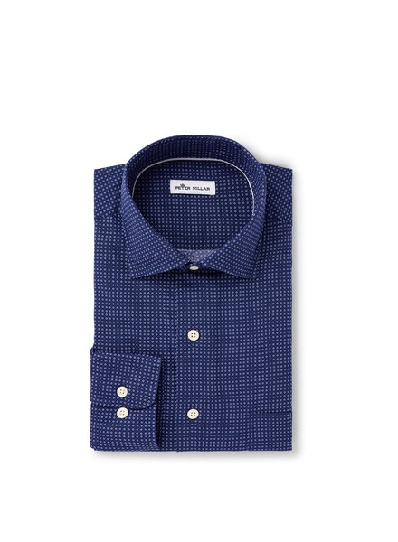Peter Millar Peter Millar Block Island Cotton-Blend Sport Shirt
