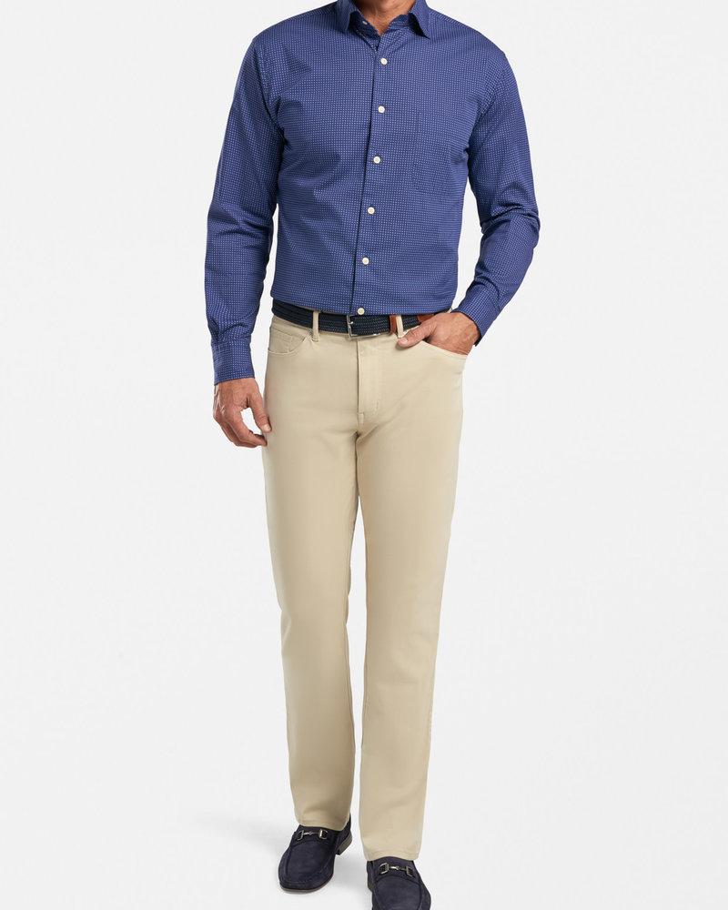 Peter Millar Peter Millar Block Island Cotton-Blend Sport Shirt Crown Collection