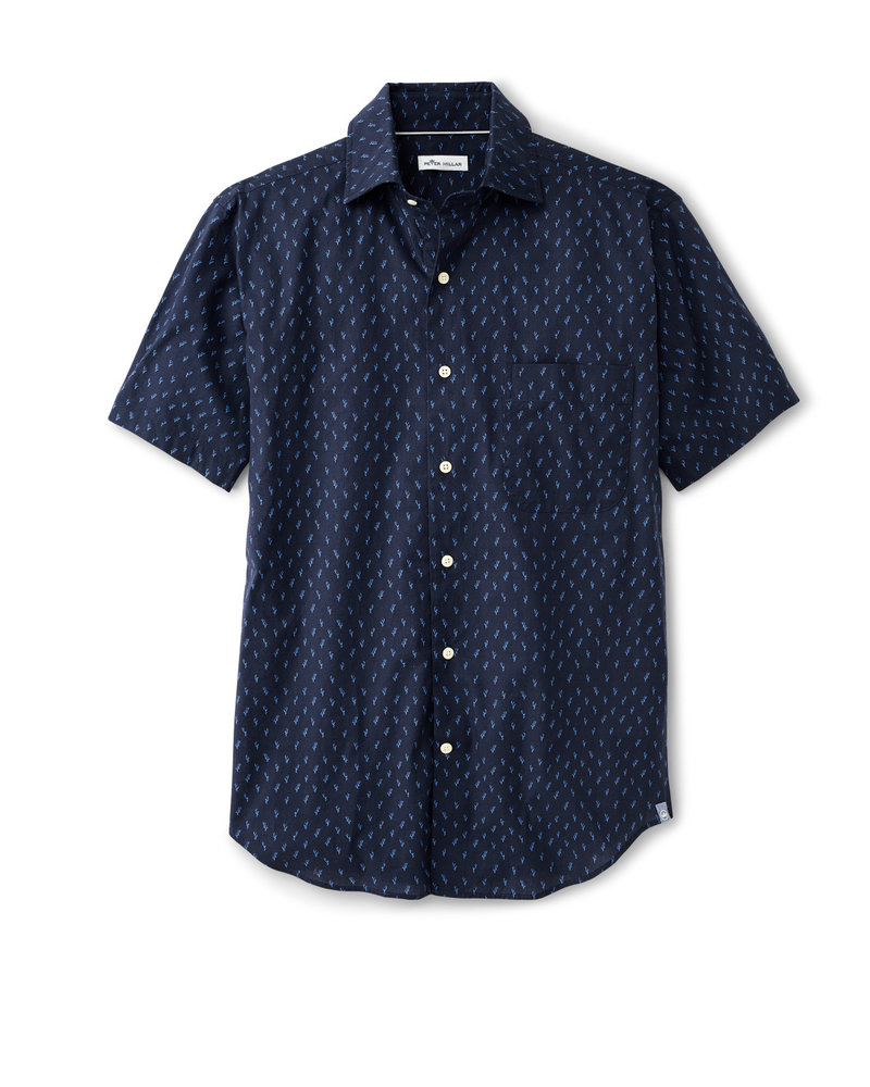 Peter Millar Peter Millar Raise The Reef Cotton-Blend Sport Shirt Seaside Collection