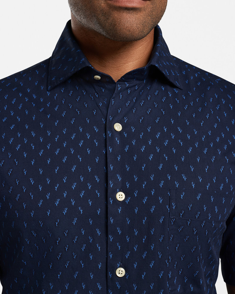 Peter Millar Peter Millar Raise The Reef Cotton-Blend Sport Shirt Seaside Collection