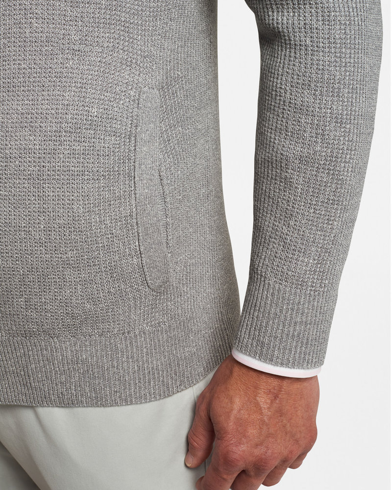 Peter Millar Peter Millar Coastal Wool-Linen Cardigan Crown Collection