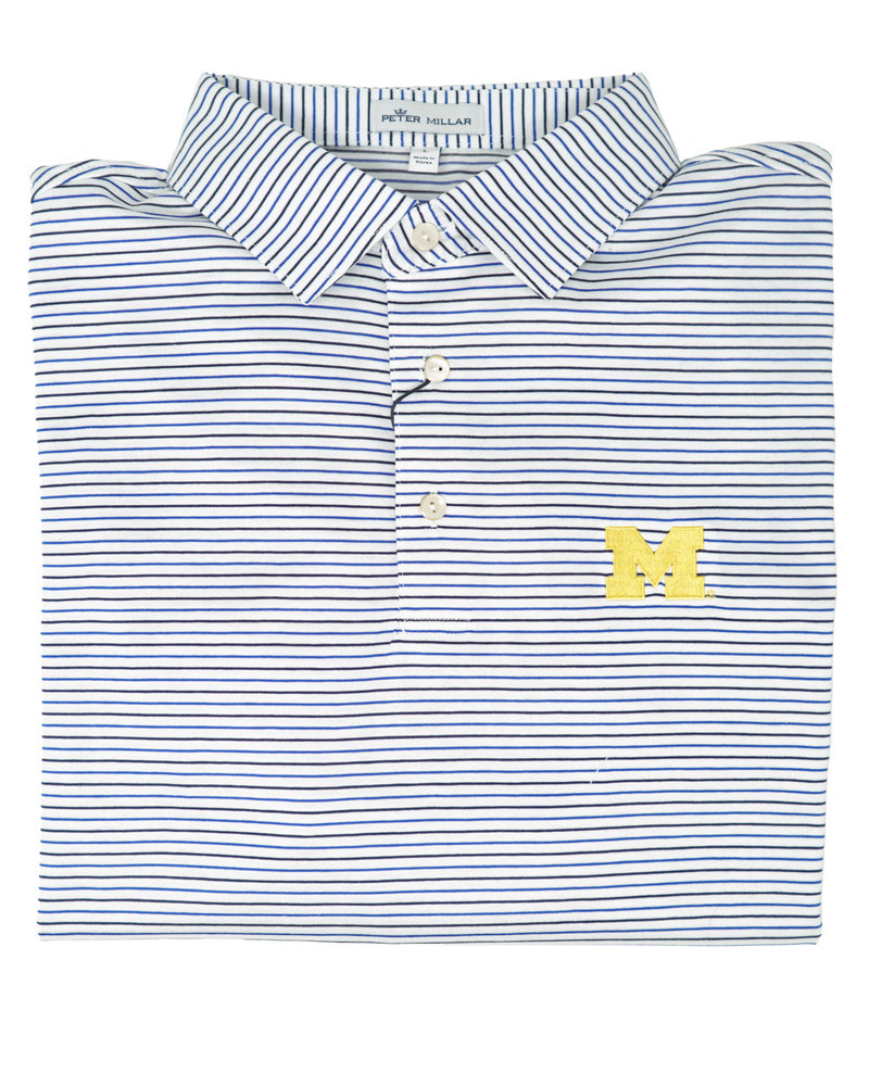 Peter Millar U of M Peter MIllar Stripe Polo