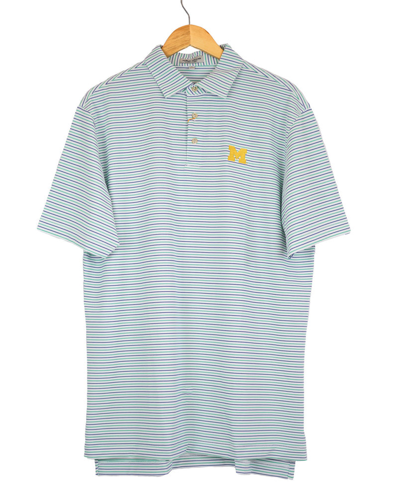 Peter Millar U of M Peter Millar Peace Stripe Polo