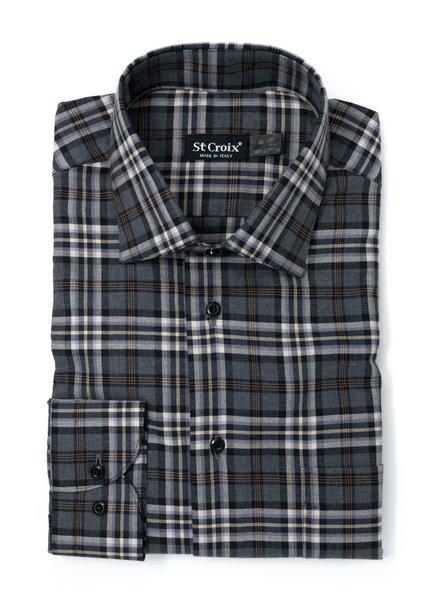 St. Croix St. Croix Melange Plaid Shirt