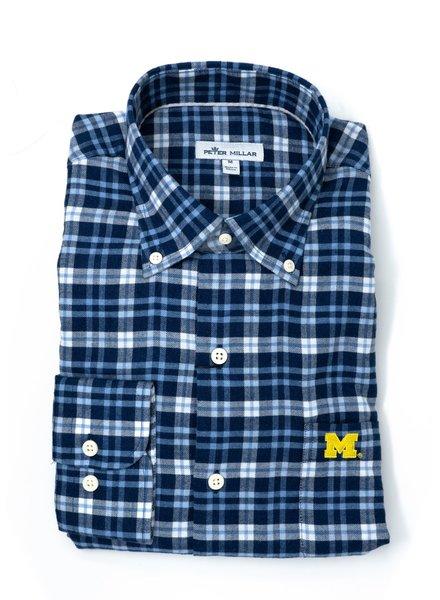 Peter Millar Peter Millar Michigan Crown Vintage Flannel Sport Shirt