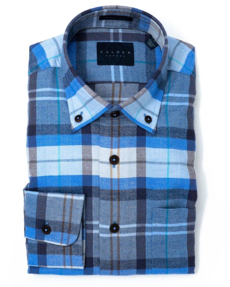 Calder Calder Exploded Plaid Flannel Sport Shirt