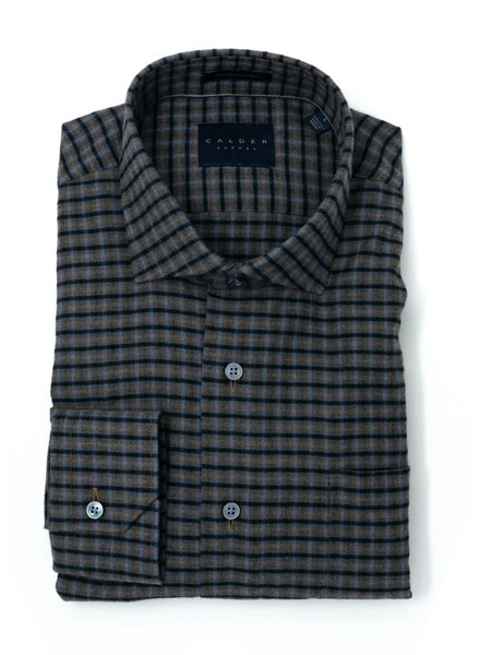 Calder Calder Cotton Check Sport Shirt