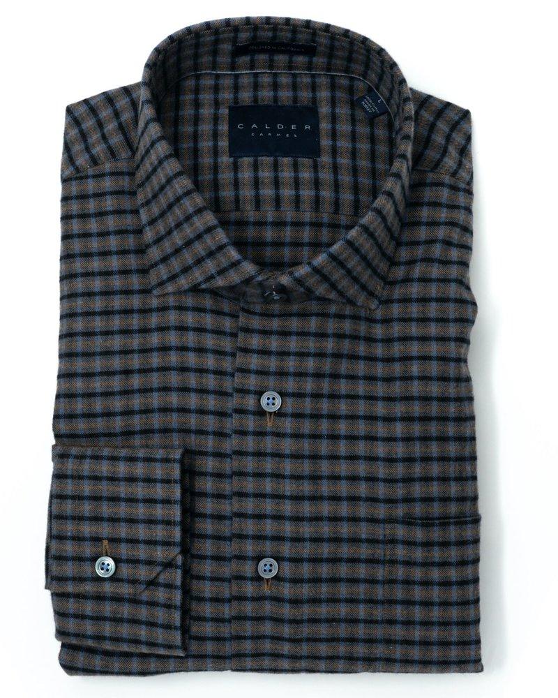 Calder Calder Cotton Check Sport Shirt