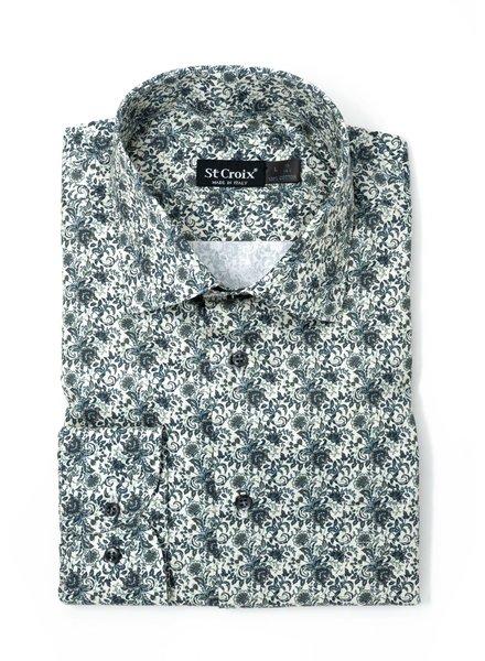 St. Croix St. Croix Floral Print Sport Shirt