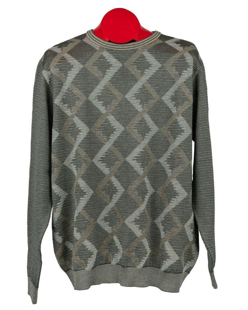 St. Croix St. Croix Crewneck Shadow Argyle Sweater