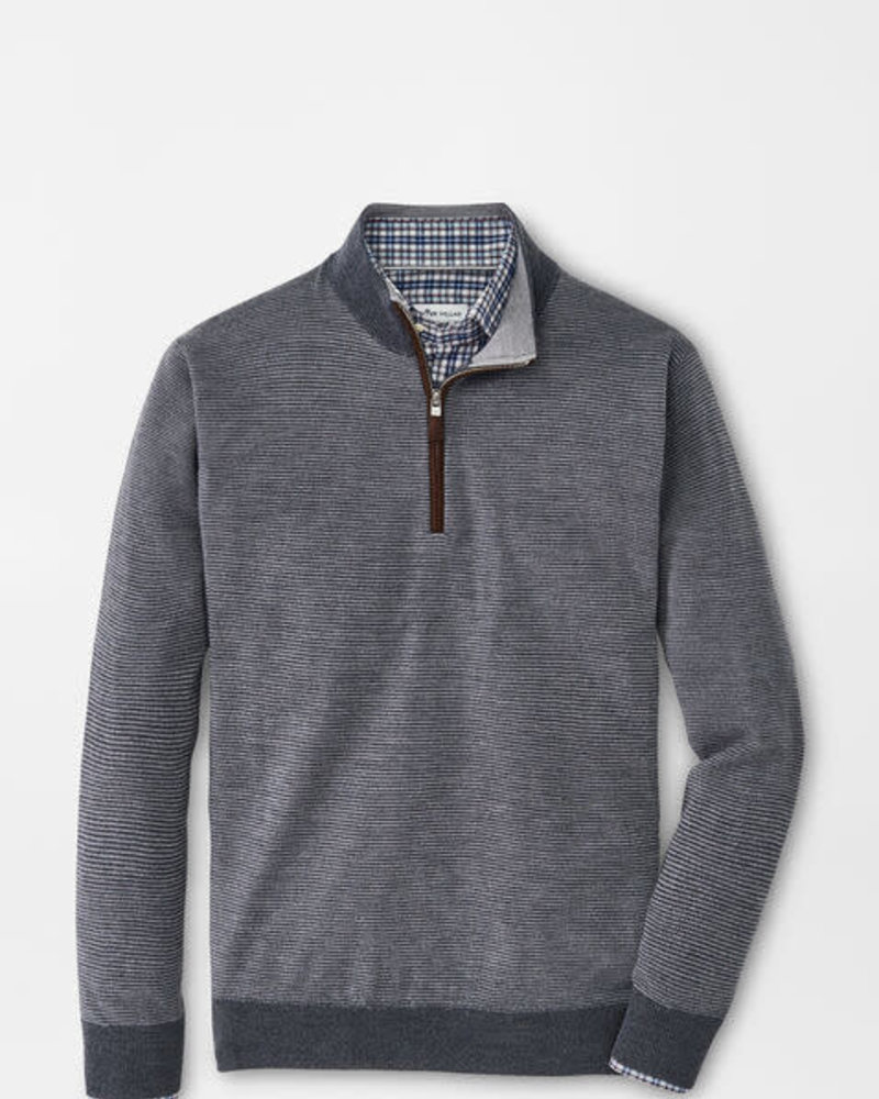 Peter Millar Peter Millar Needle-Stripe Wool Quarter-Zip Crown Collection