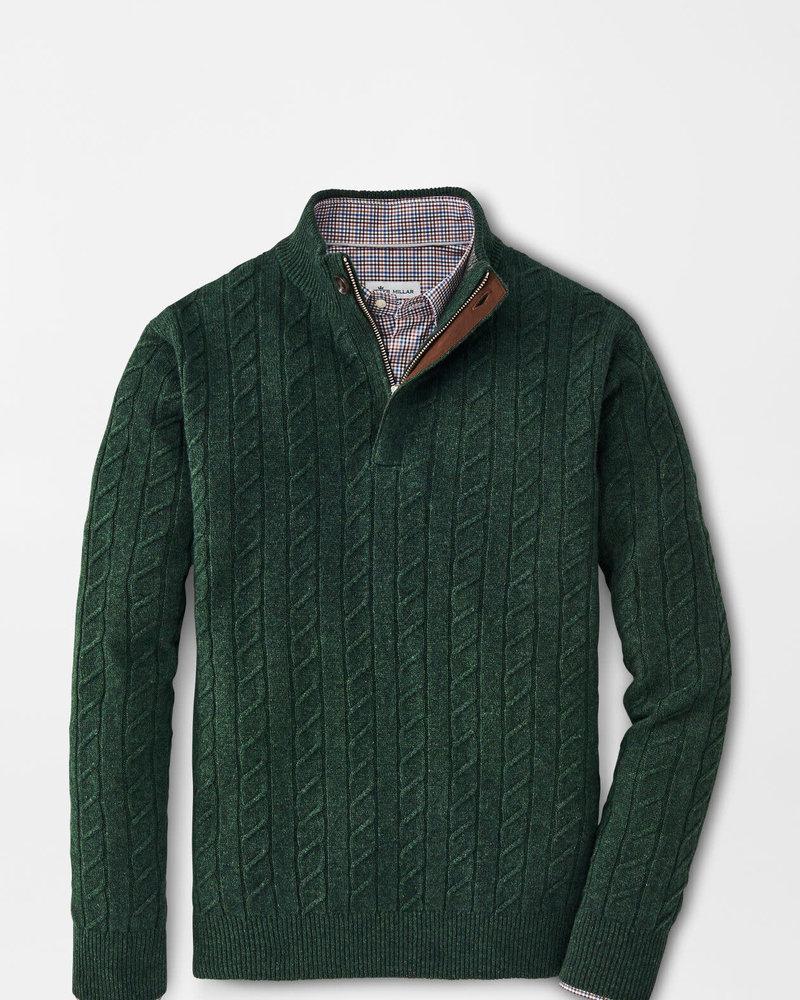 Peter Millar Peter Millar Wool Cable Quarter-Zip Crown Collection
