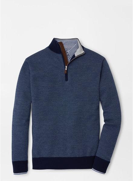Peter Millar Peter Millar Wool Jacquard Quarter-Zip Sweater