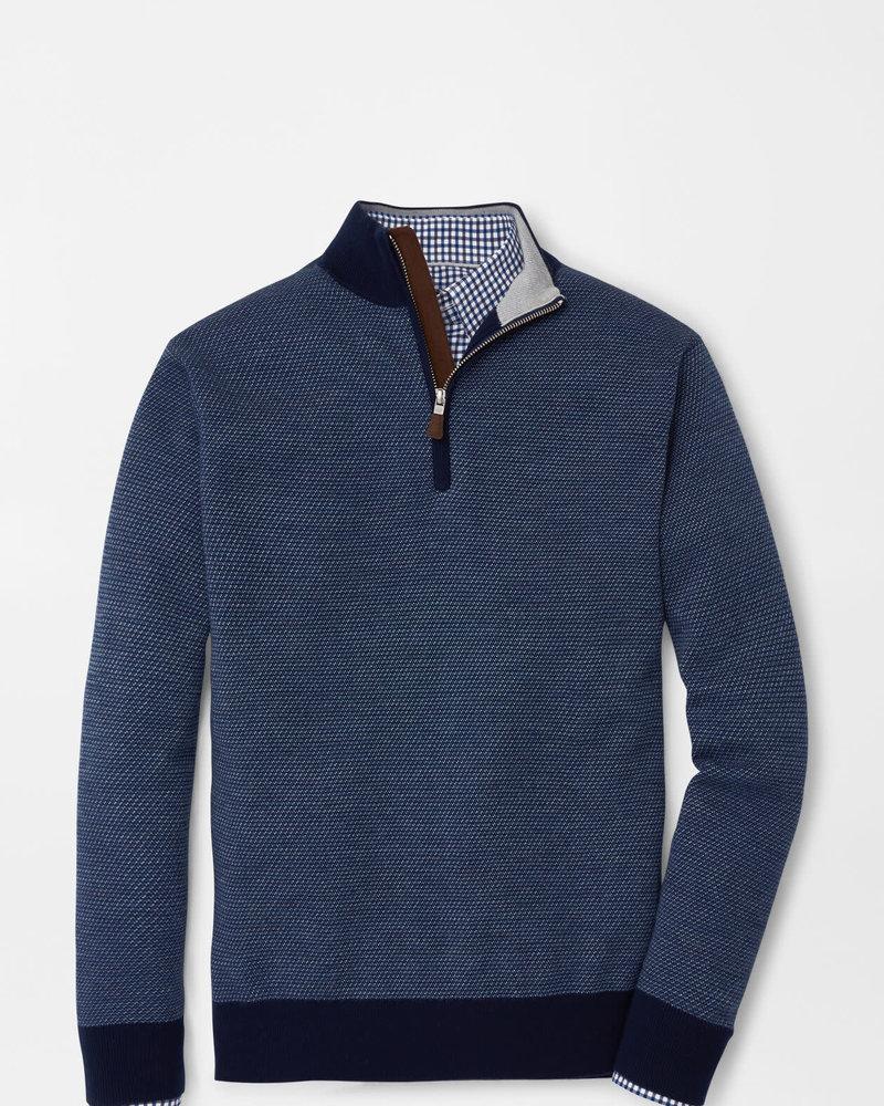 Peter Millar Peter Millar Wool Jacquard Quarter-Zip Sweater Crown Collection