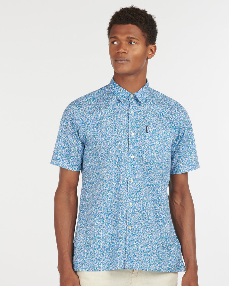 Barbour Barbour Short Sleeve Print Sport Shirt
