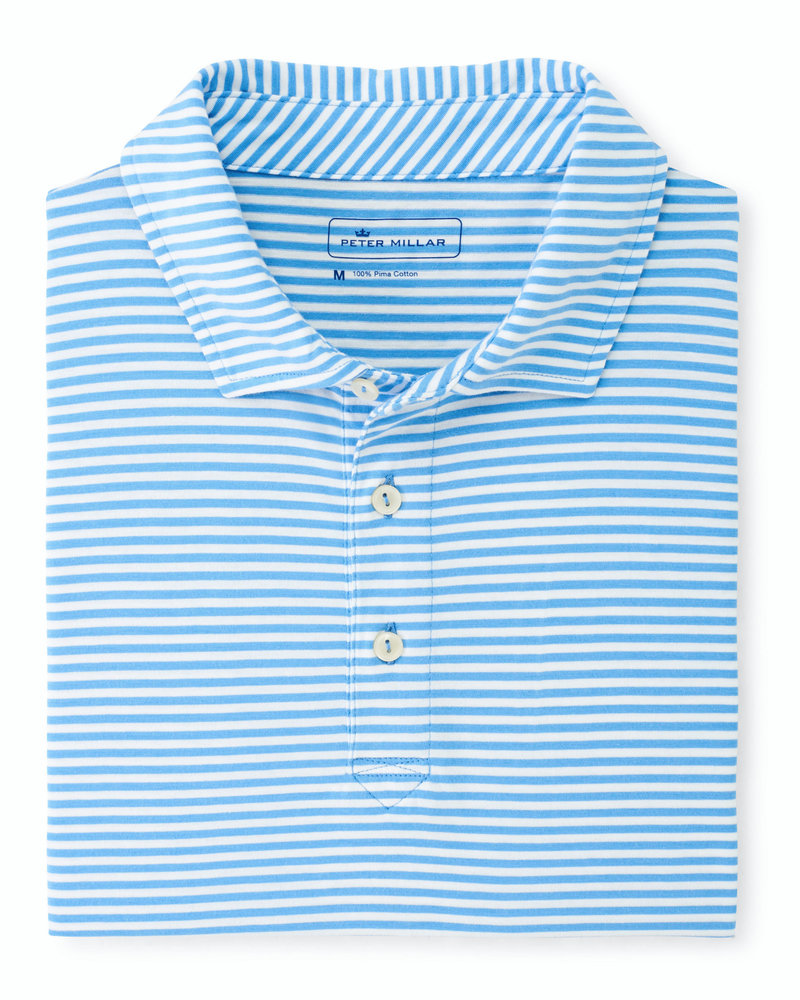 Peter Millar Peter Millar Aqua Cotton Polo