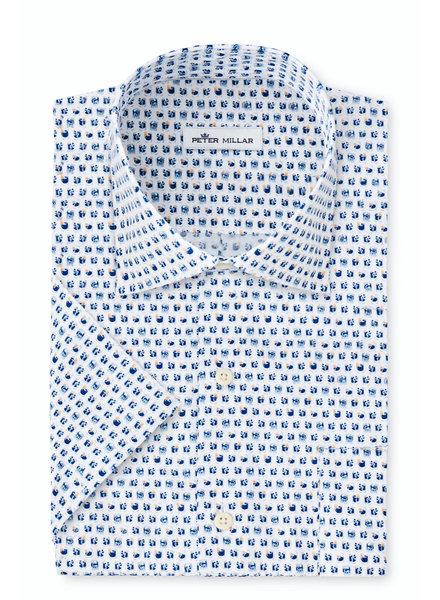 Peter Millar Peter Millar On The Rocks Cotton-Blend Short-Sleeve Sport Shirt