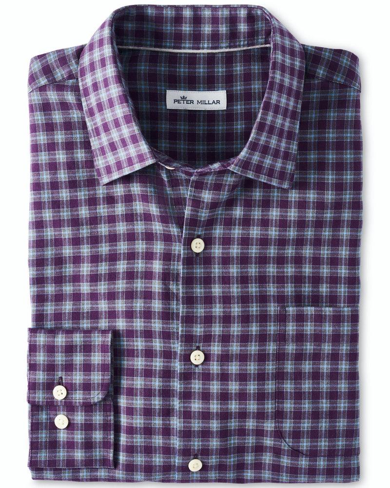 Peter Millar Peter Millar Autumn Soft Camrose Cotton Sport Shirt Mulberry