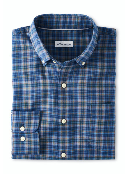 Peter Millar Peter Millar Autumn Soft Greenwood Cotton Sport Shirt
