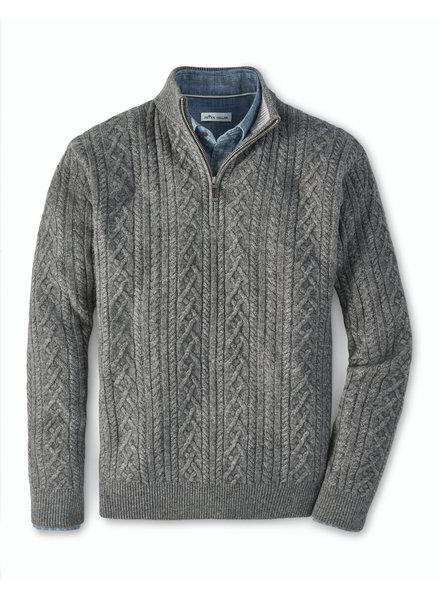 Peter Millar Peter Millar Cable 1/4 Zip Wool Cashmere Yak