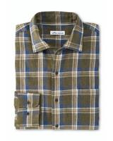Peter Millar Peter Millar Pointe-Claire Cotton Sport Shirt Olive Leaf