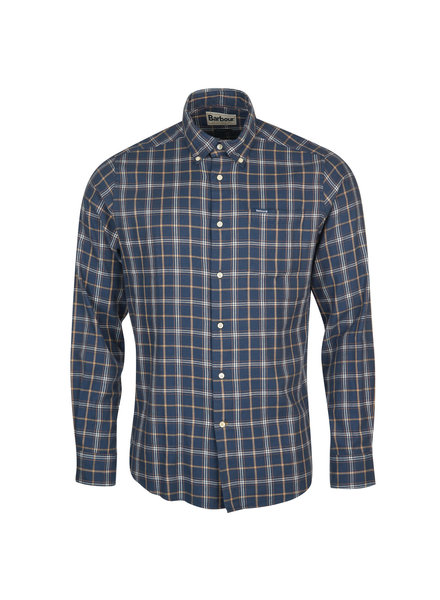 Barbour Barbour Delamere Eco Tailored Sport Shirt Navy