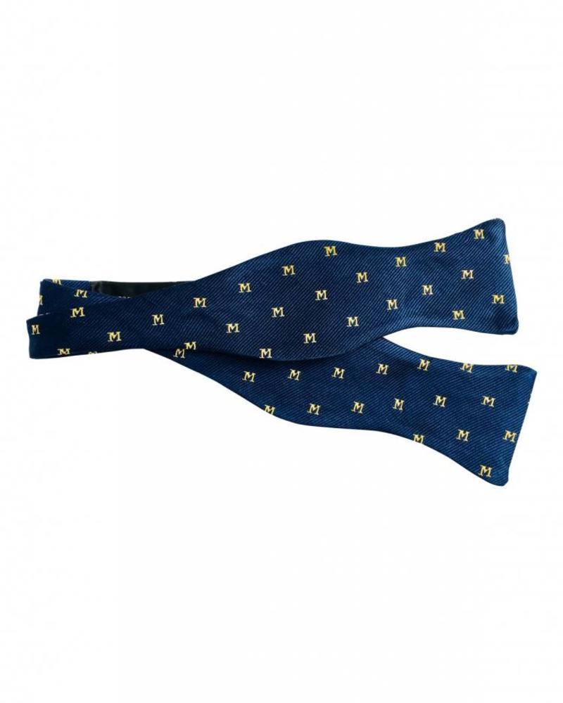 A. Christensen A. Christensen M Silk Bow Tie - Navy