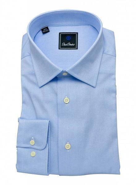 David Donahue David Donahue Spread Collar Dress Shirt - Blue/White