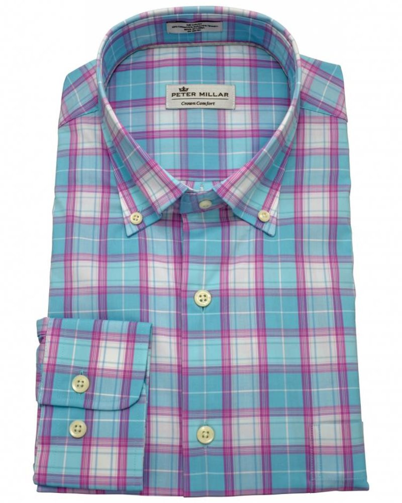 Peter Millar Peter Millar Crown Comfort Finch Multi-Check Sport Shirt
