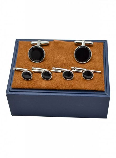 David Donahue David Donahue Onyx and Silver Stud Set