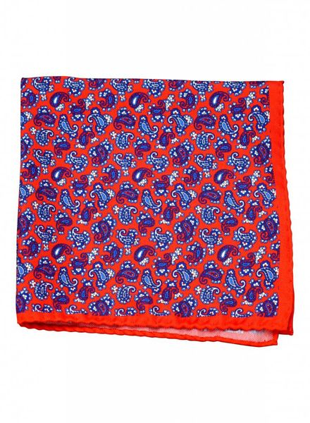 A. Christensen A. Christensen Silk Pocket Square - Red