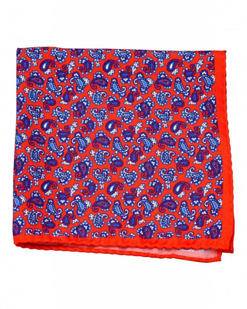 Amanda Christensen A. Christensen Silk Pocket Square - Red